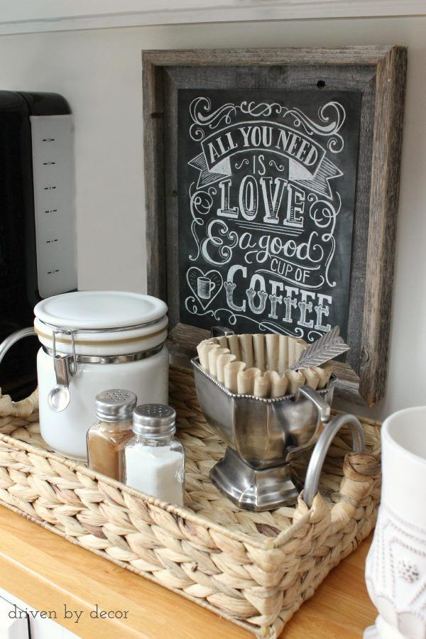 diy coffee bar blog news and reviews. Black Bedroom Furniture Sets. Home Design Ideas