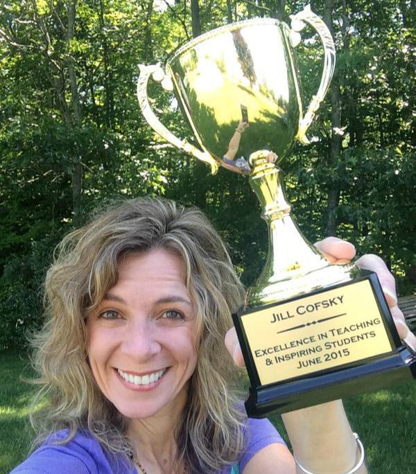 Custom Engraved Award for Trophy Central's Show Us Your Sue winner Jill Cofsky for Teaching Excellence