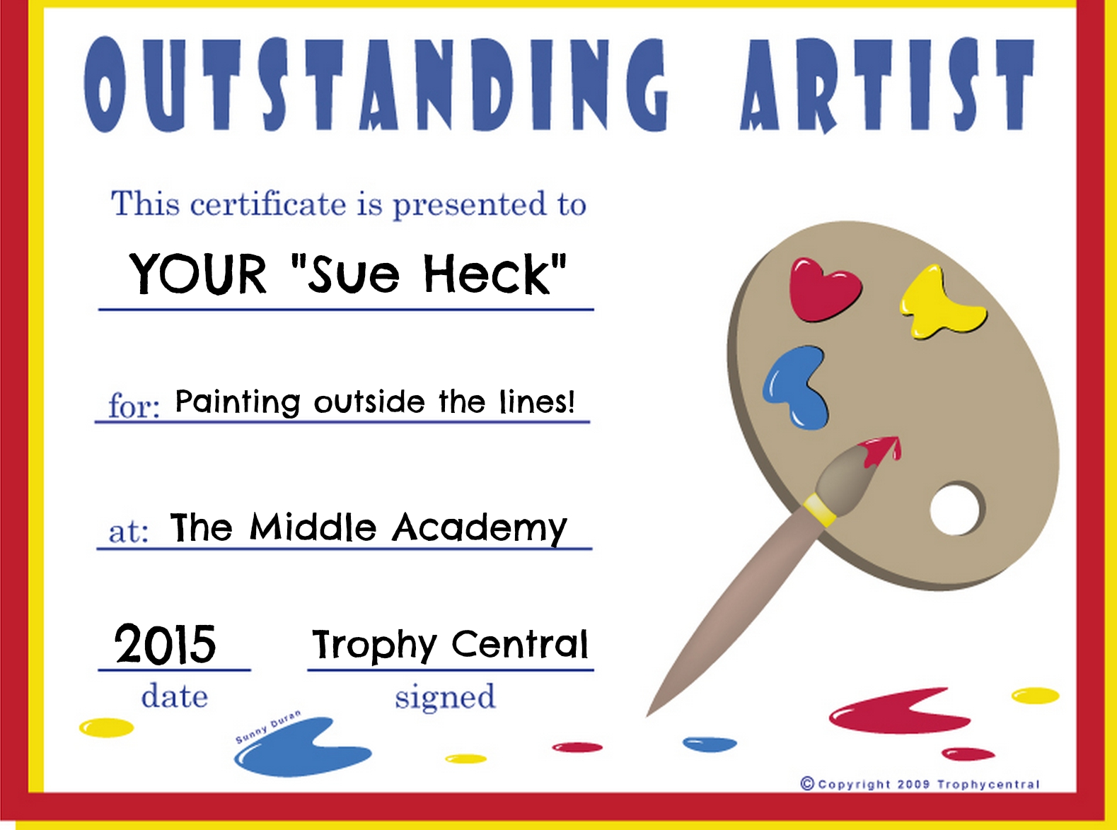 Its back to school time at trophy central which means more trophy central free printable certificate award 1betcityfo Image collections