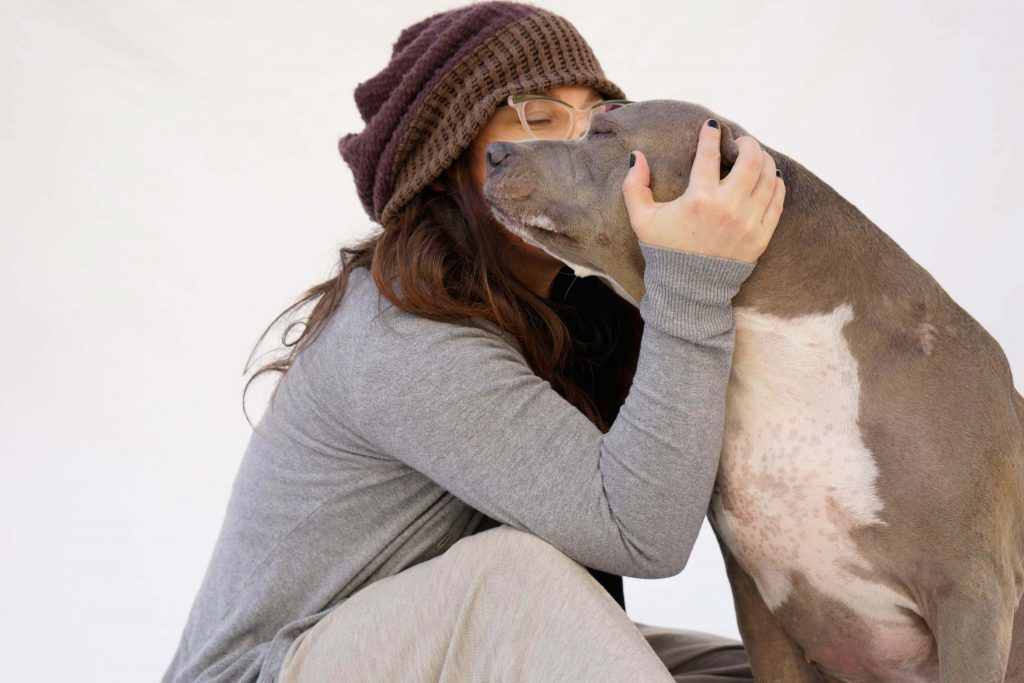 Rebecca Corry and Angel - Pit Bull Love