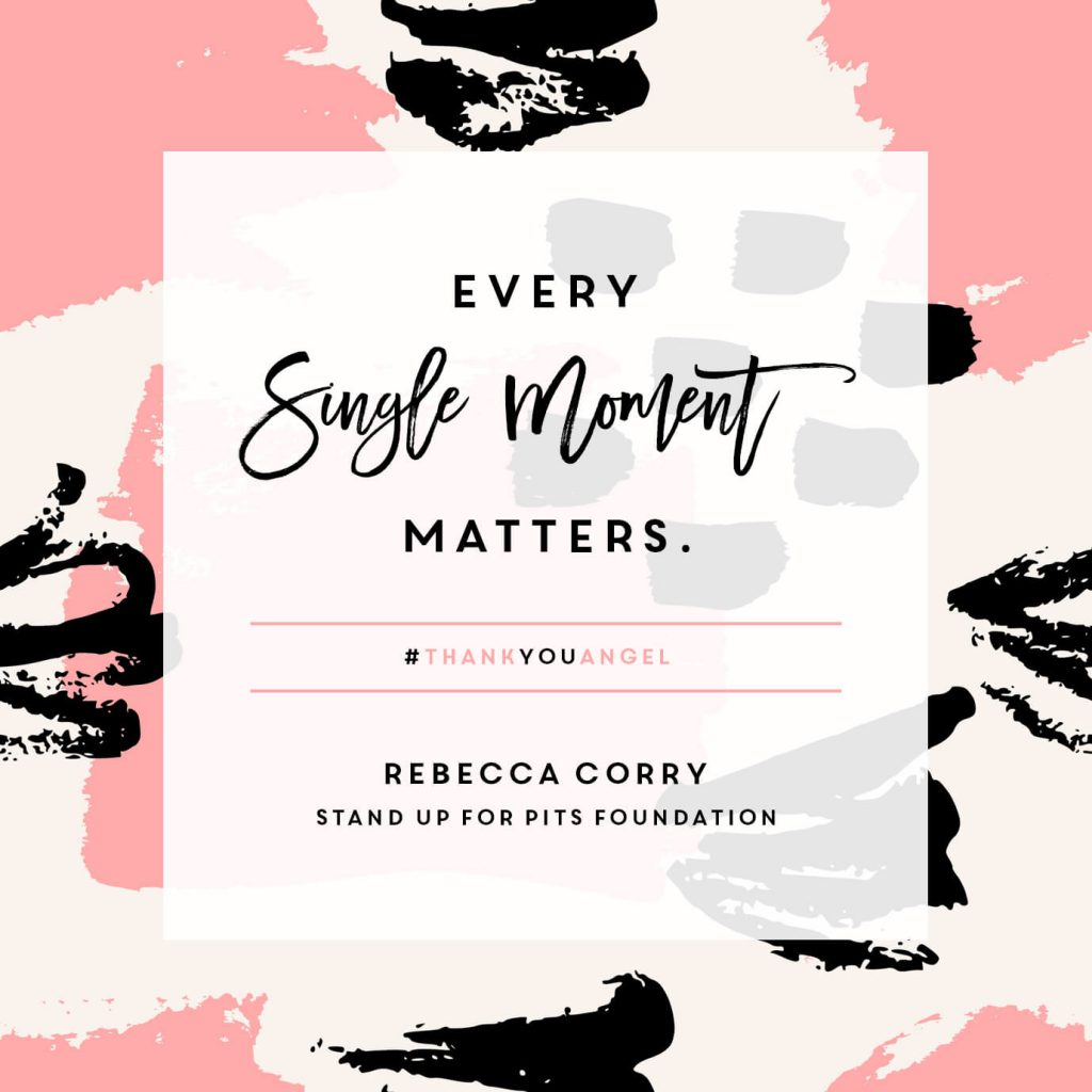 Rebecca Corry quote graphic designed by Kelsey Prooker - Stand Up For Pits Foundation