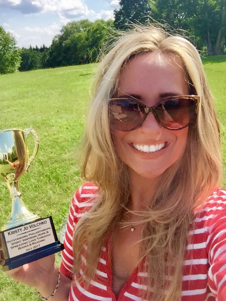 Random Acts of Trophy-ness: Show Us Your Sue award winner Kristy Jo Volchko never fails to lift the spirits of team Trophy Central!